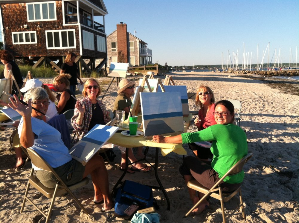 Painting on Oak Grove Beach