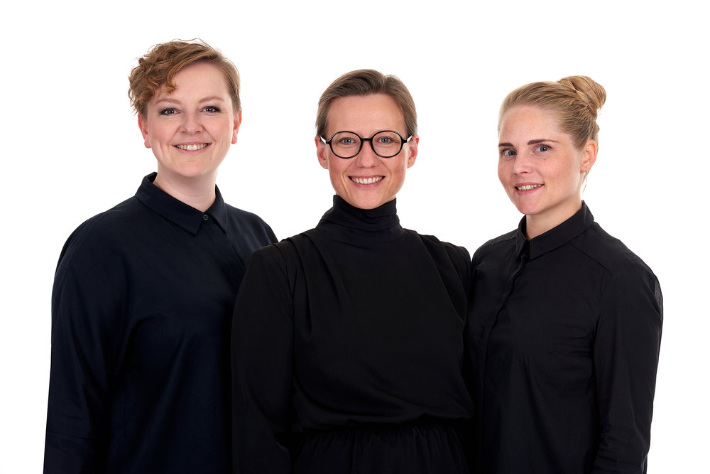 Kaleidoscope partners Miia-Liina Tommila, Tone Megrunn Berge and Silje Klepsvik. Photo: Studio 1 fotografene