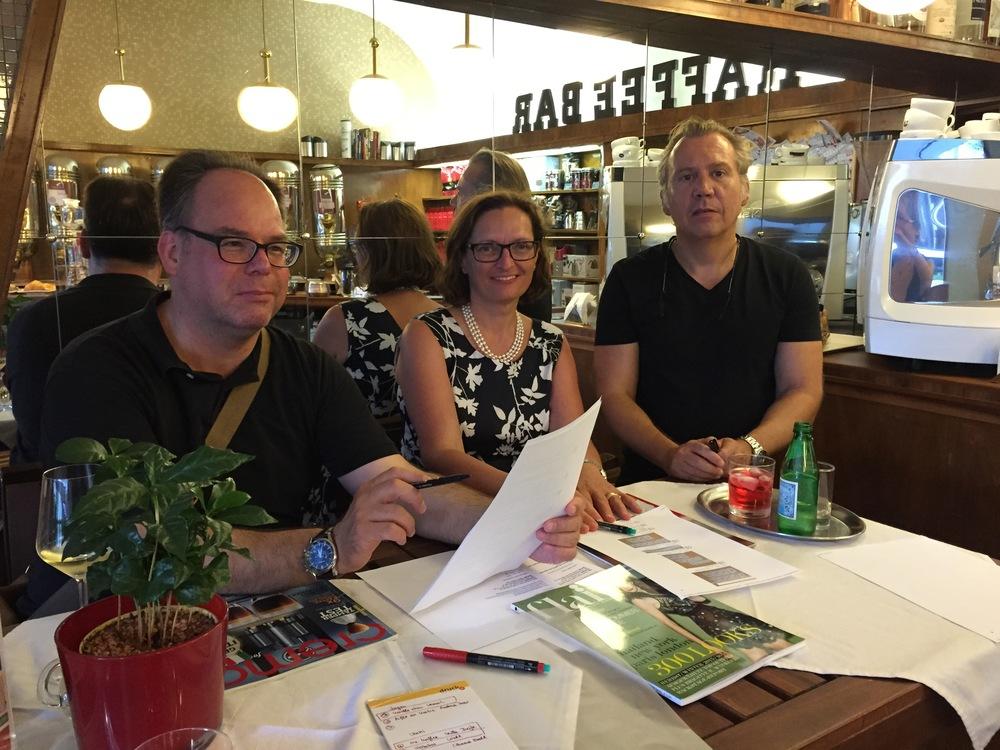Jürgen Rupprecht, WKÖ Presse-Ref; Mag. Ursula Brustmann alias #CoffairyQueen; Oliver Pusch alias #KaffeeOK
