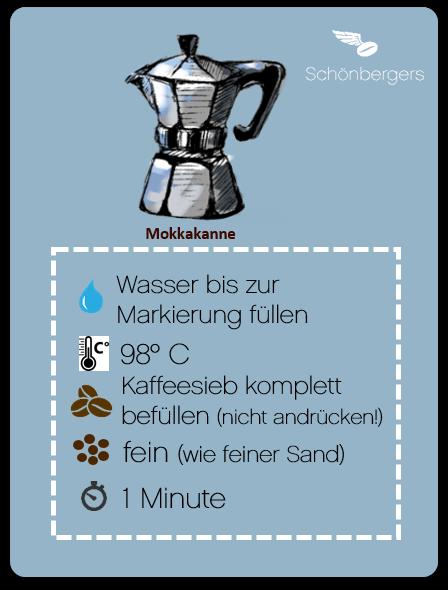 Zubereitung Mokkakanne_Schönbergers