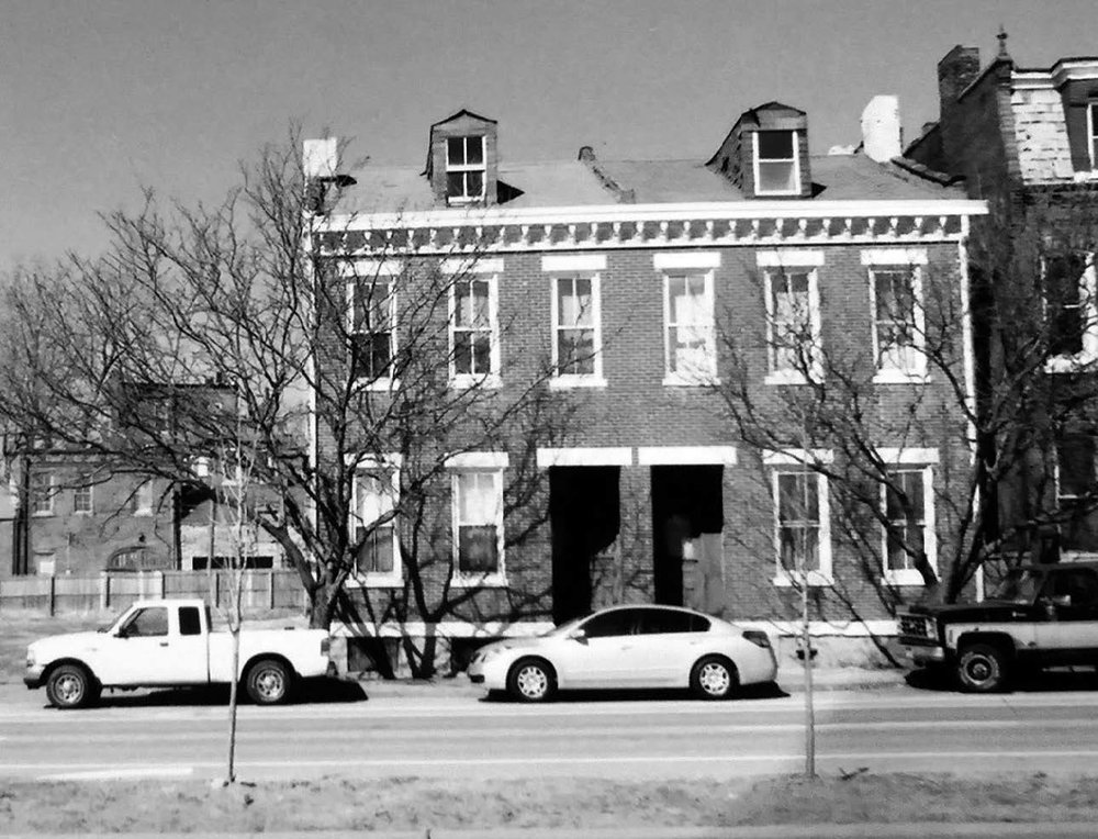 the two houses at 1823-25 s. 7th st. are all that remain of the original row of six.