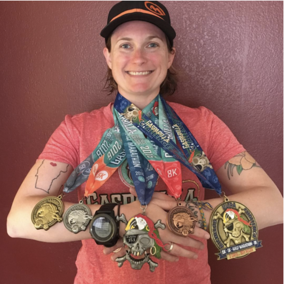 Running a marathon in your 19th state! History was made and medals were collected in Florida! Photo cred: Mallory