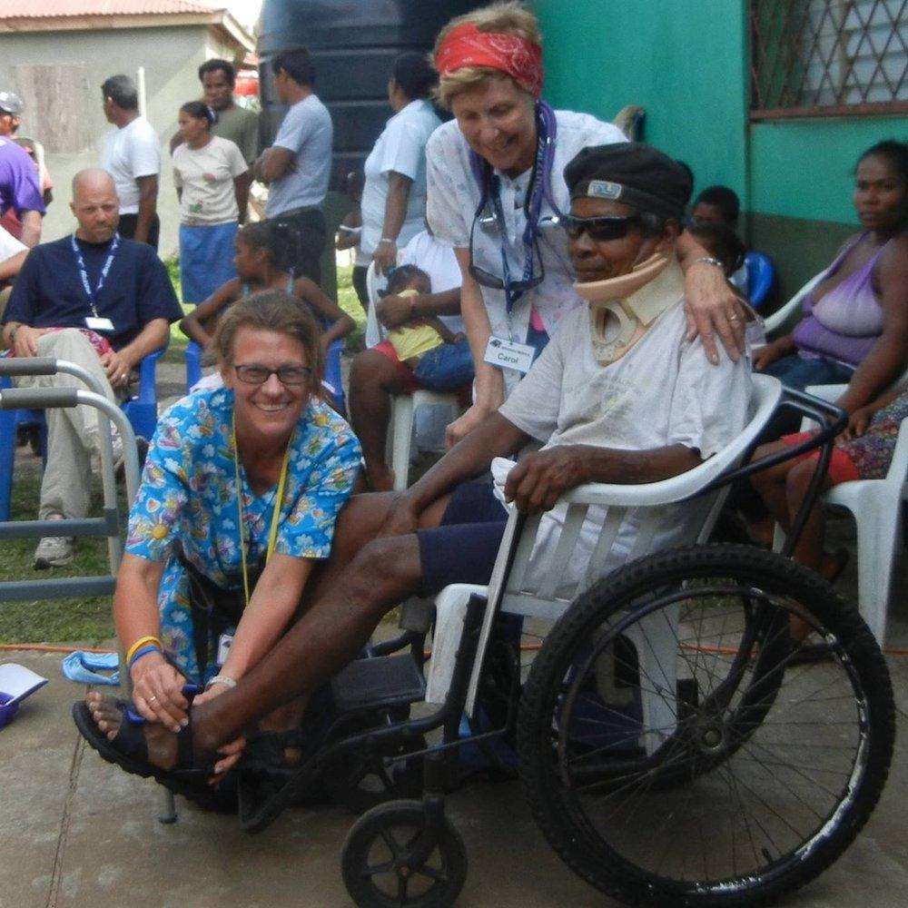 LBC member, Brita Zuelkhe, on a medical mission trip to Nicaragua