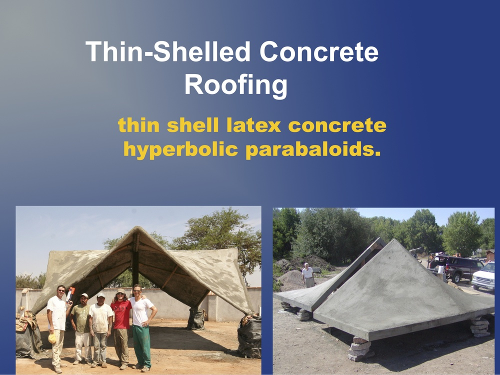 Thin-shell concrete presentation.