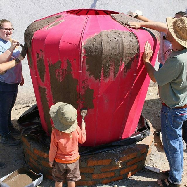 Interested in building your own rainwater harvesting cistern? Maybe a rainjar could be the answer for you. Check out our latest blog post to see one we recently built at Caminos de Agua!  http://caminosdeagua.org/news/2017/5/8/earth-day-celebrated-with-rainjar-build  #rain #jar #rainwater #harvesting #cistern