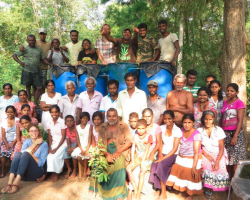 Aqueous Solutions team completes a system that removes synthetic organic compounds from surface water in northern Sri Lanka.