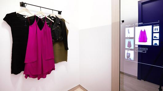 Rebecca Minkoff's store in NYC goes high-tech with mirrors that adjust lighting, find other colors or sizes of a product, and contact sales associates