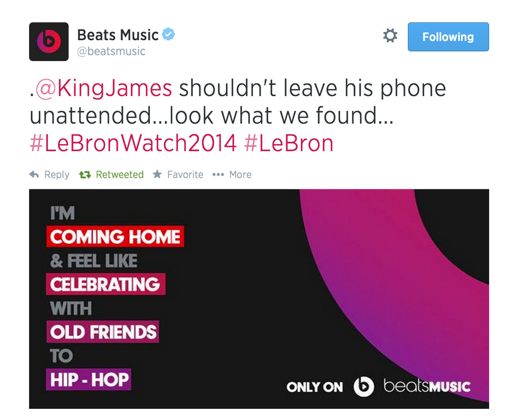 Did Beats' tweet reveal it first?