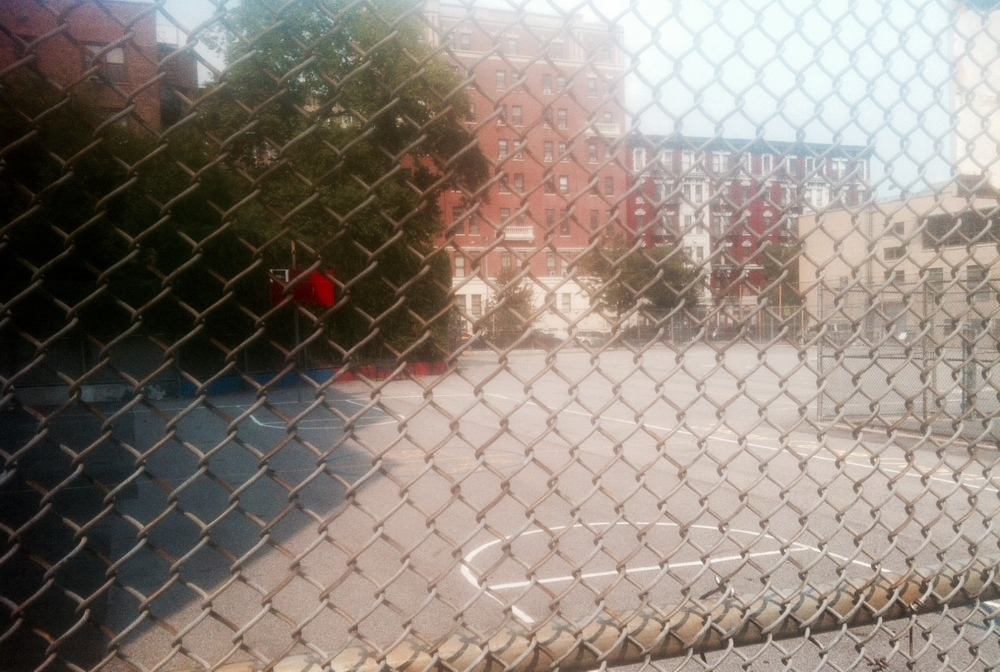 My favorite playground basketball court: 322 East 11th Street in New York's East Village
