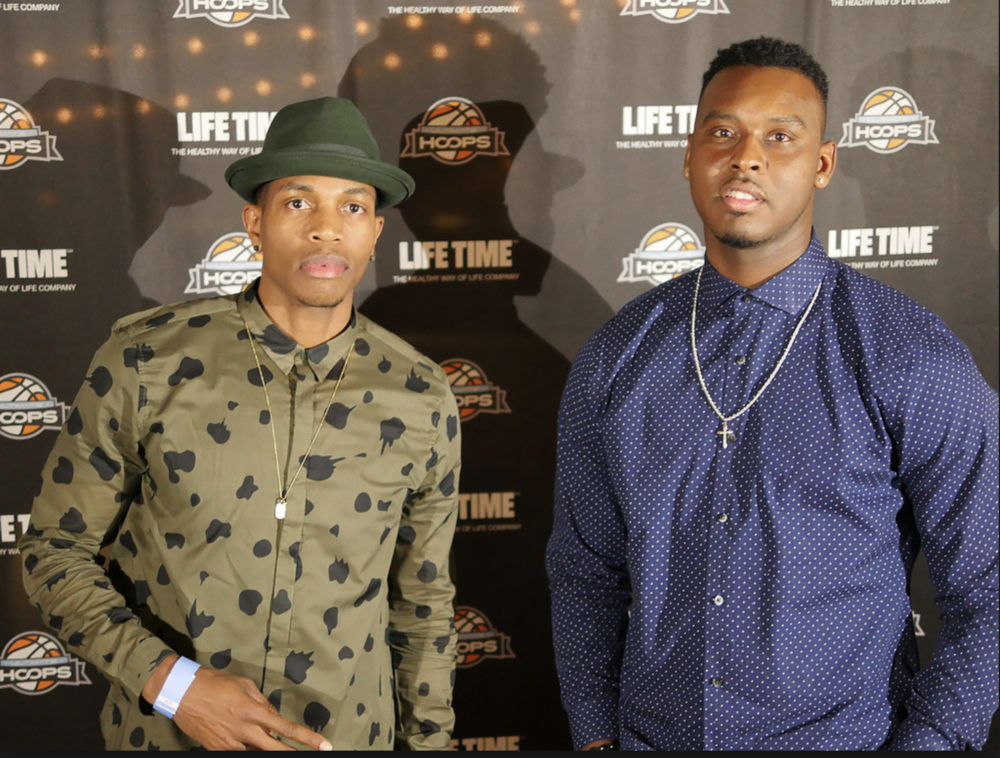David Stephens (right) and Johnnie Brown posing at the National Tournament red carpet event in Las Vegas