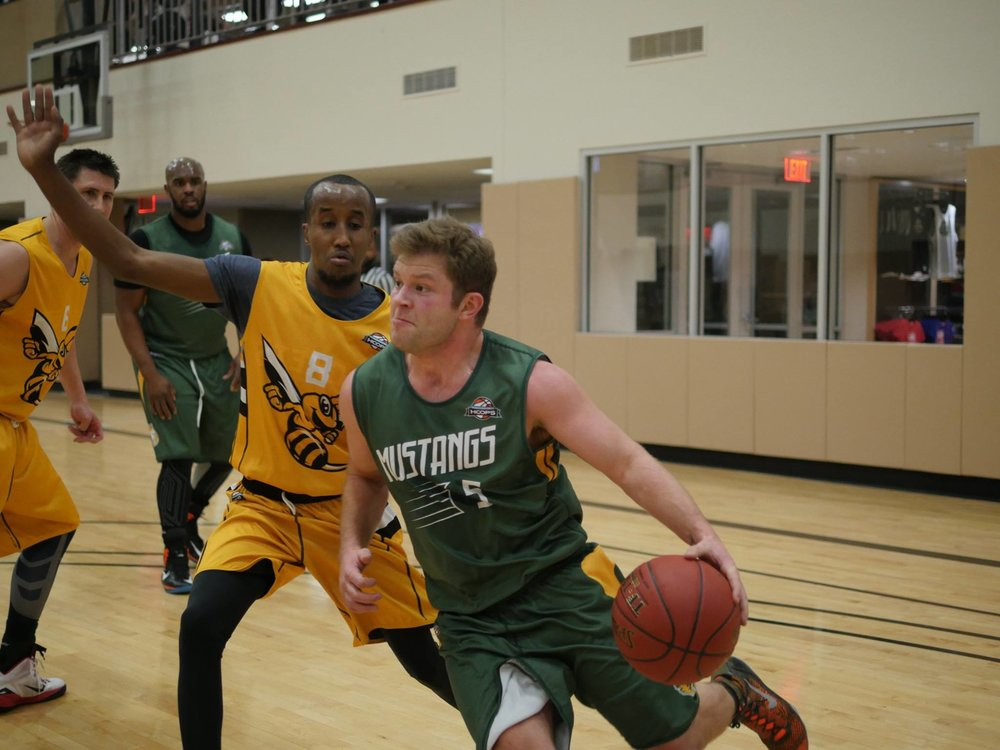 Dustin Dupont playing with the Mustangs in the Dream League
