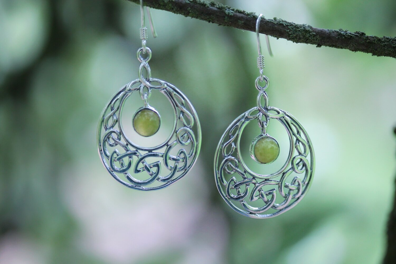 Scotland Edinburgh Design Squares-Hallmarked 925 Sterling Silver Scottish Marble Earrings