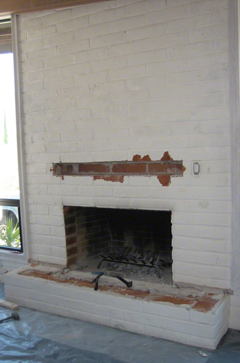 Hearth removed