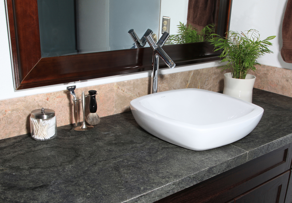 Ocean Black Bathroom Countertop