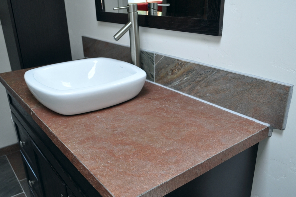 D. Copper Bathroom Countertop