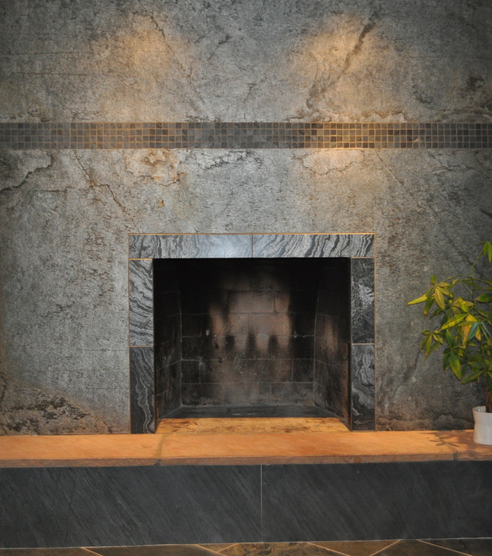 Silver Shine Fireplace Surround