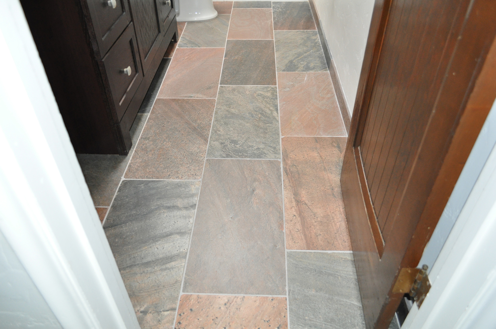 Copper Polished Tile Floor