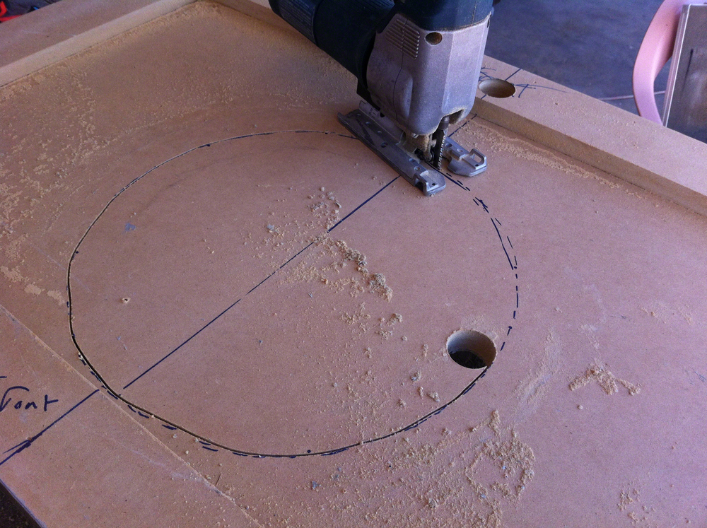 Cutting hole for sink