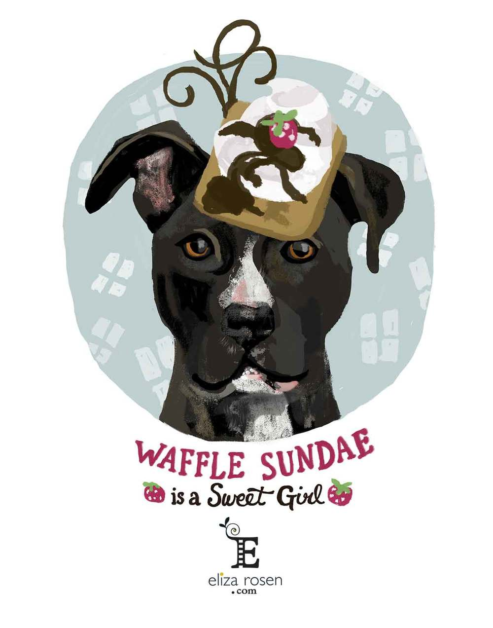 Project Adopt Me!: Waffle Sundae the Staffordshire Terrier Mix
