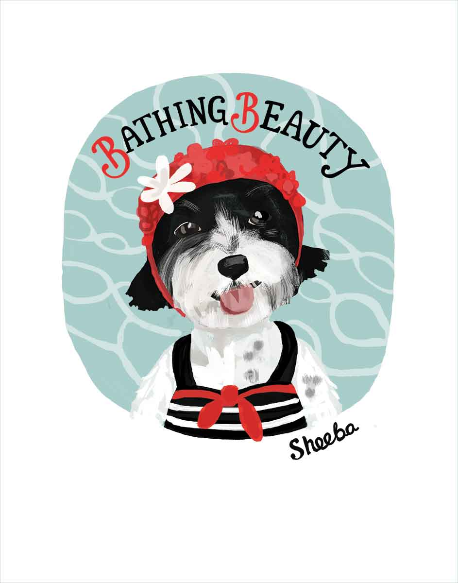 Sheeba: PAWS Chicago 2015 Beach Party Tumbler Art