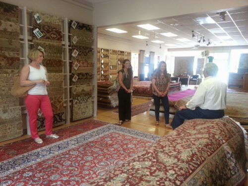 Sy Mafuz of the Persian Rug Gallery, Nashua NH, Speaking to design students.