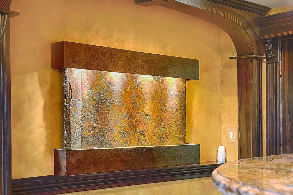 This Granite Water Feature Provides a Focal Point iin the Waiting Room of this Dental Office