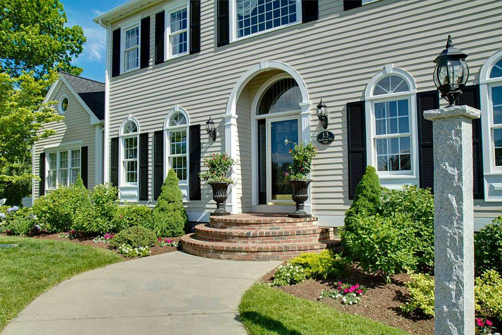 Exterior Painting and Landscaping Gave the Home a Fresh New Looking Appearance