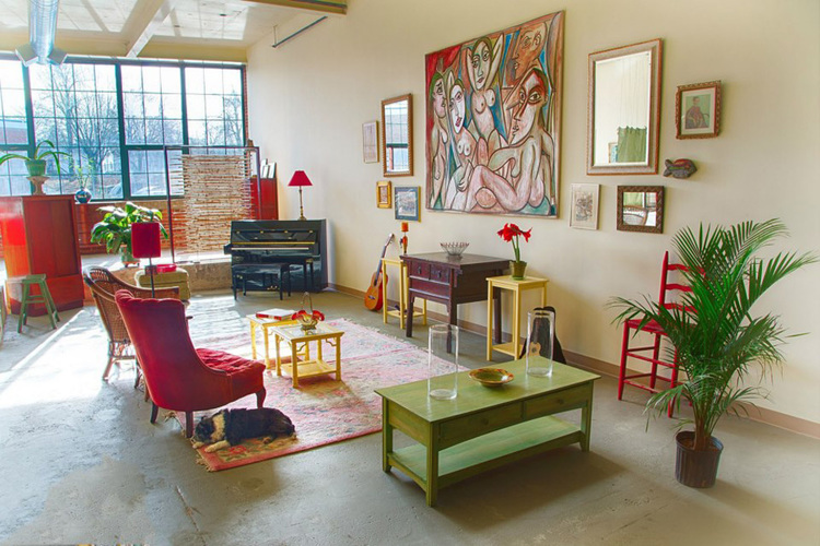 Interior Design Artist Loft Lowell MA