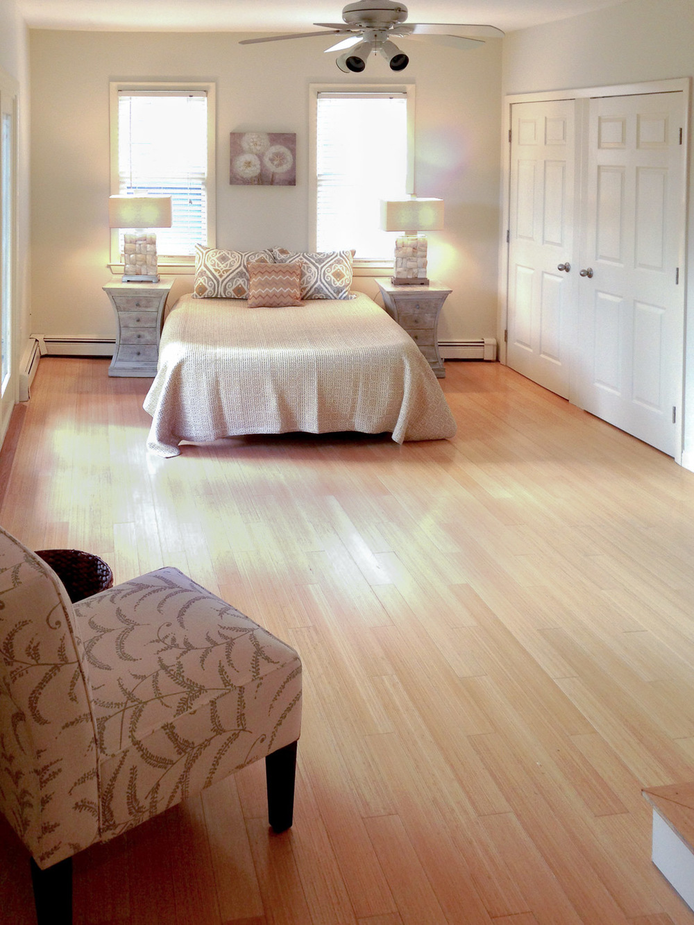 Home Staging Bedroom, Charlestown, MA