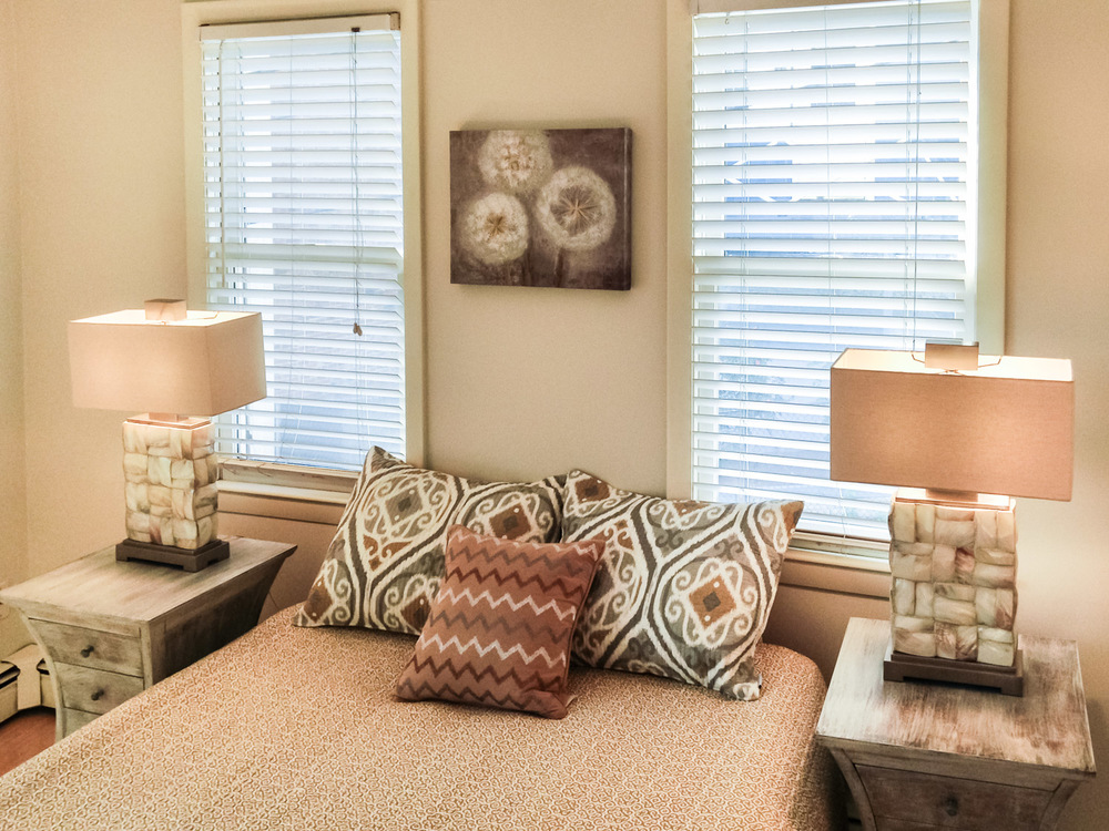 Home Staging Bedroom Lamps, Charlestown, MA