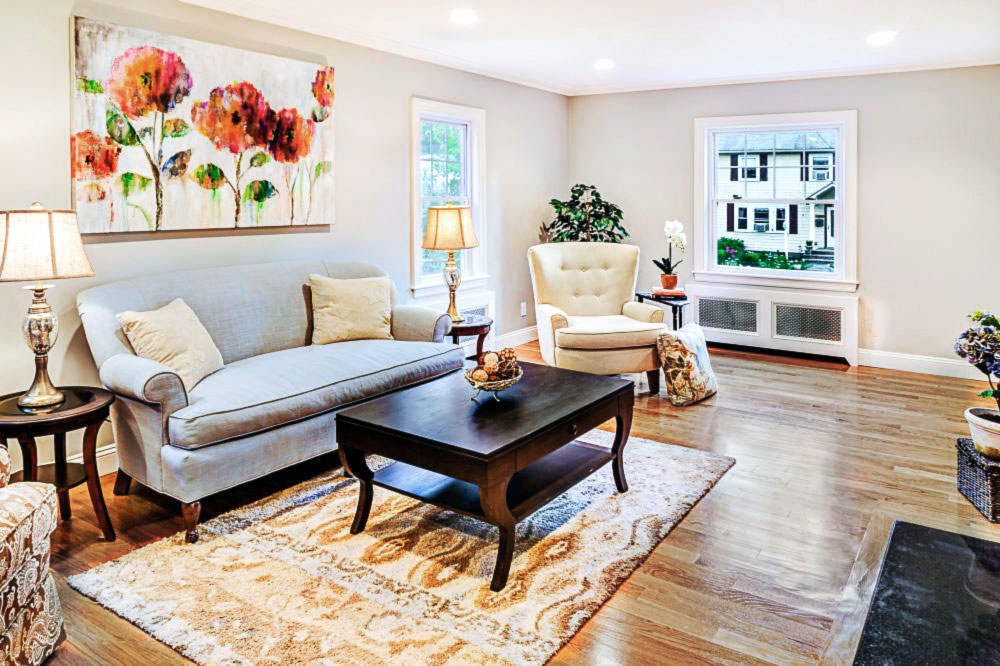 Home Staging Living Room Harvard, MA