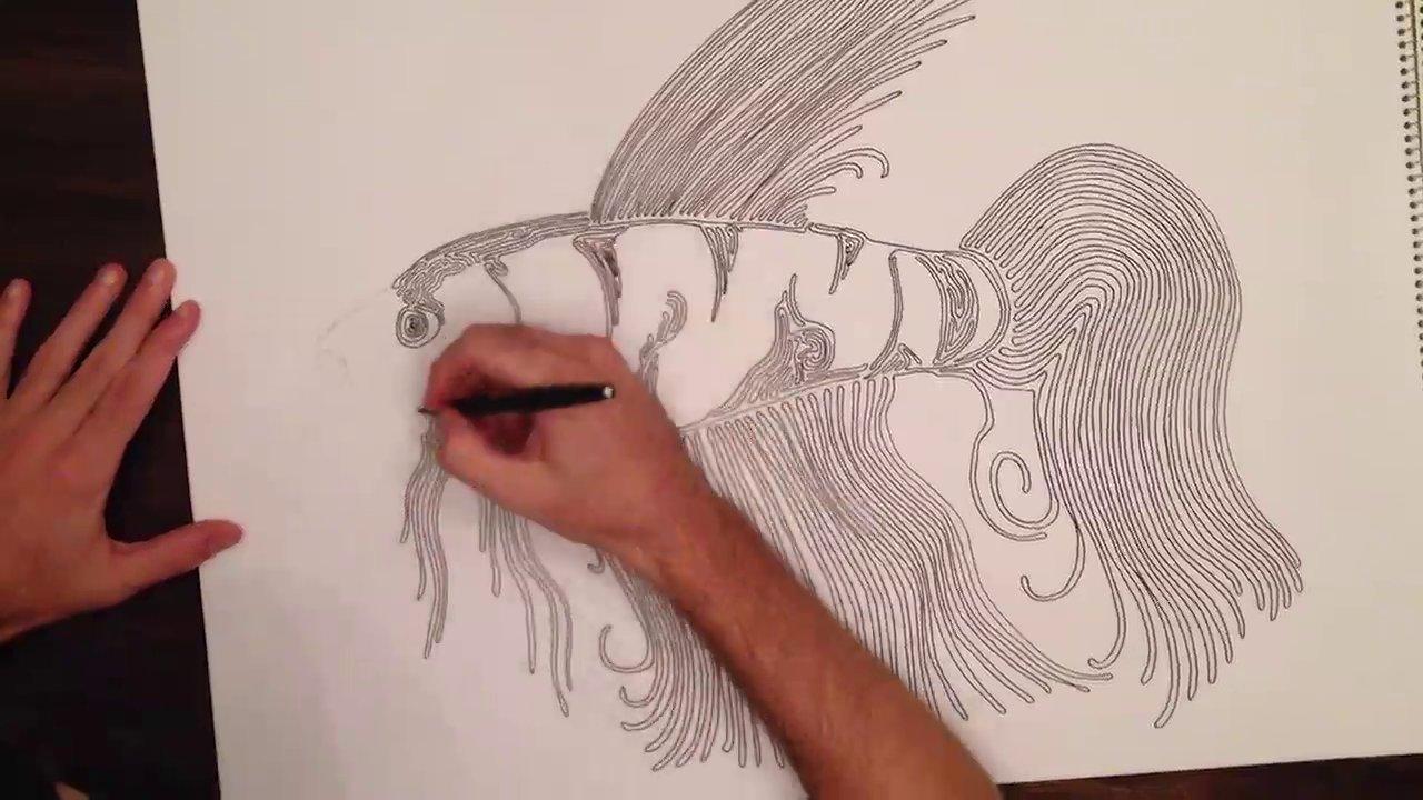 The Line Artwork : One liner artwork