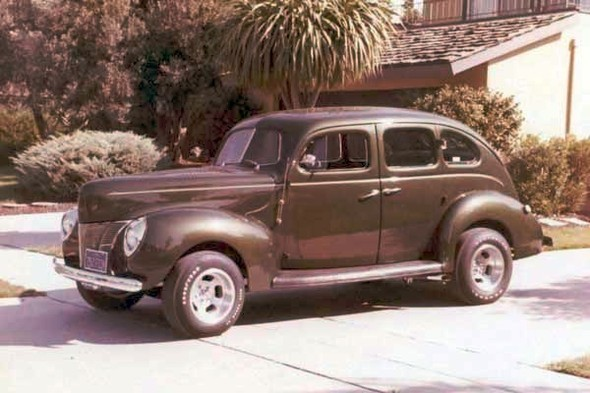 When Roy moved to San Jose with Mutual of Omaha in 1975, he had a company car. Later, when he left to form a pension company under the auspices of New York Life, he needed another car. This '40 Ford Deluxe four-door sedan was his daily driver for three years, and his three kids remember being carted around town and getting many admiring comments and a frequent thumbs-up from another driver.