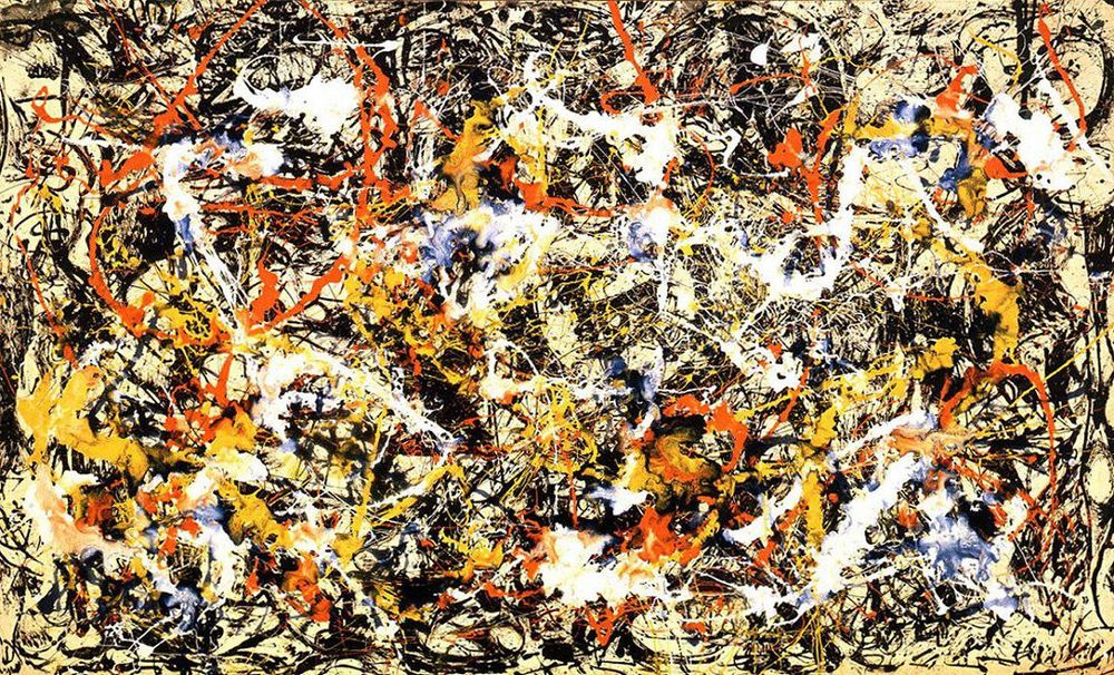 Jackson Pollock, 1952 Oil On Canvas