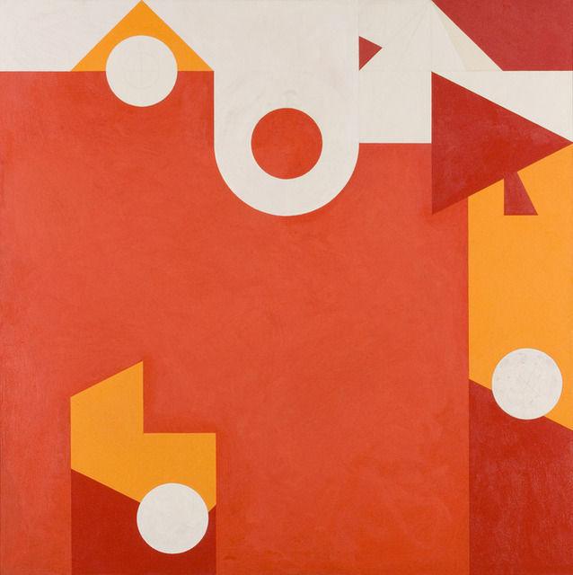 Hassel Smith, 1980, acrylic.