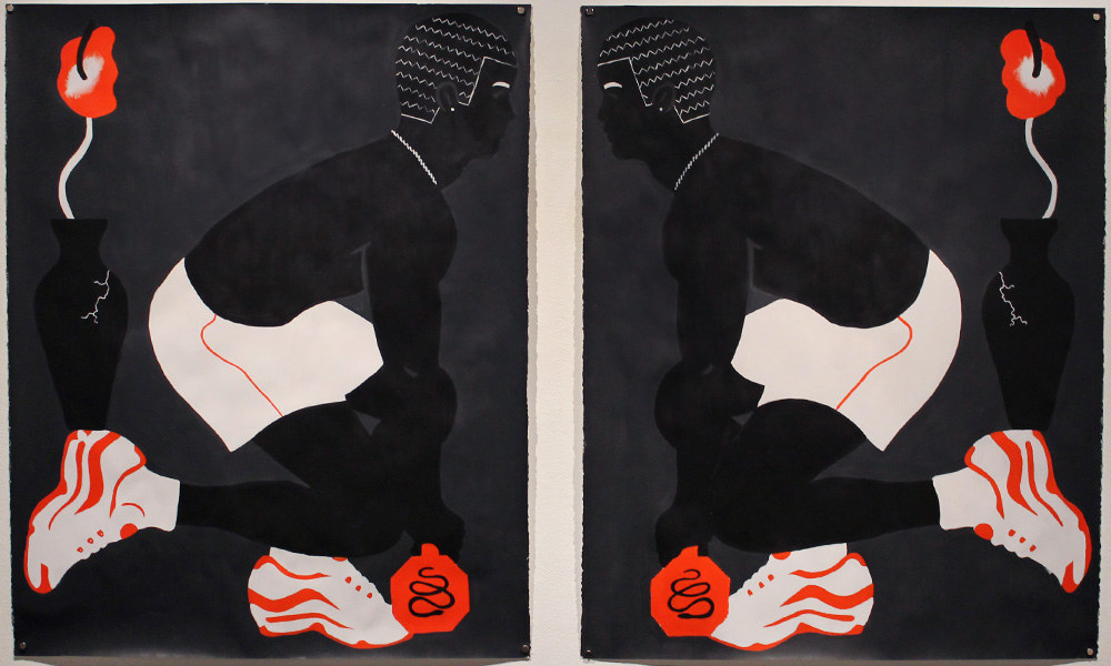 Power Enjoying; Arm'd & Fearful | Acrylic on Paper | (2) 38 x 48 Inches