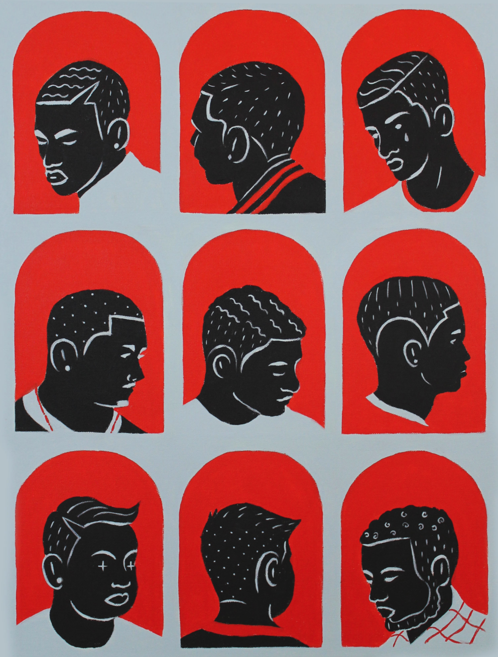 BARBERSHOP 2017 // Acrylic on Canvas // 18 x 24 Inches