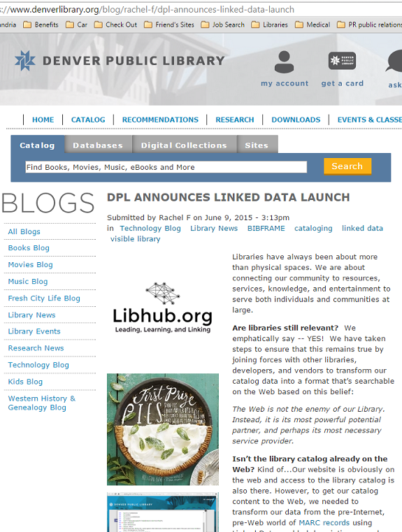 "DPL blog post ""DPL Announces Linked Data Launch"""