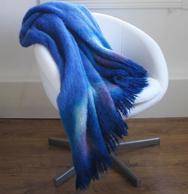Our mohair throws are a lifetime gift- to yourself or someone you love. They will outlast you and get passed along generation to generation. Comfort, warmth, quality and beauty- just a few of the things we think about as we make our throws, with love, by hand. 💙. . . . #giftguide #gifts #giftstocherish #ooak18 #blanket #cozy #giftsforher #giftsforhim #madeincanada #selflove #ooakday