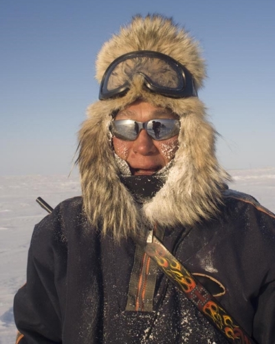 Jack Kayotuk, who grew up traveling and living on and along the arctic land and sea.