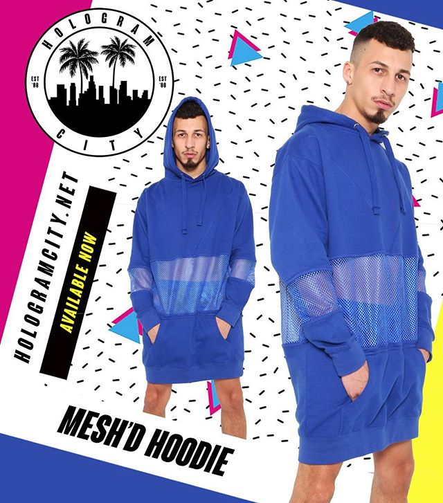 🚹 MESH'D HOODIE 🚹 Now available online 💻 HOLOGRAMCITY.net 💙 New item from our new 3️⃣2️⃣3️⃣ Collection 🌴🌴 #hoodie #oversizedsweater #mesh #new #mensstyle #winter #blue #azul #323