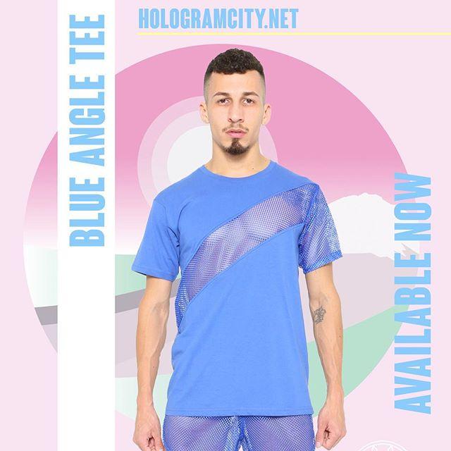 🔹ANGLE TEE🔹Blue  NOW AVAILABLE ONLINE  HOLOGRAMCITY.net 💻 🌴3️⃣2️⃣3️⃣🌴 Collection  #new #mesh #blue #tee #mensfashion #2018 #shop