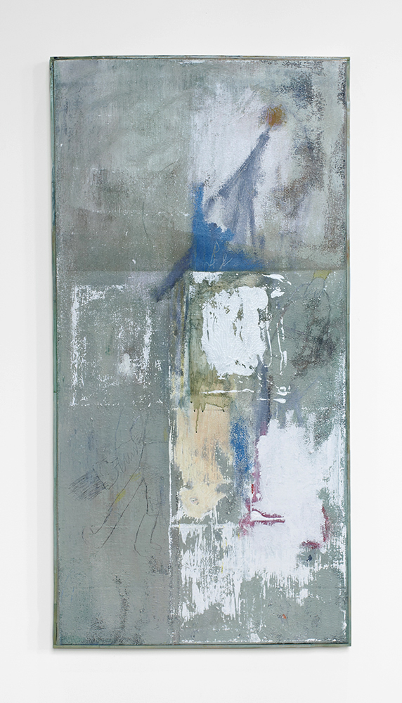 Ted Gahl. House painter (Green 2), 2014, acryllic on canvas, 61x122 cm.