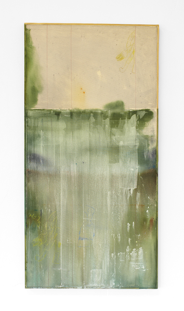 Ted Gahl. House painter (Green 1), 2014, acryllic on canvas, 61x122 cm.