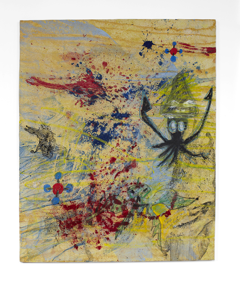 Bill Saylor, Untitled, 2014, oil, acryllic, crayon on canvas. 130x150 cm.