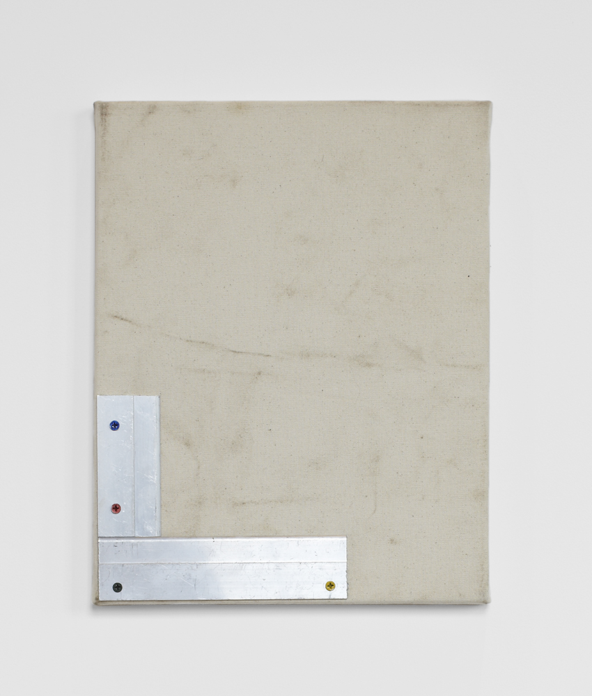 Ted Gahl. Cultured Elbow (2), 2014, aluminum on canvas, 28x35,5 cm.