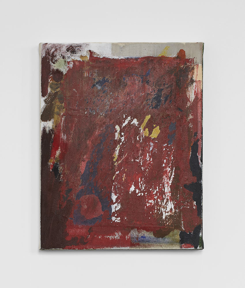 Ted Gahl. Red one, 2014, acryllic on canvas, 28x35,5 cm.