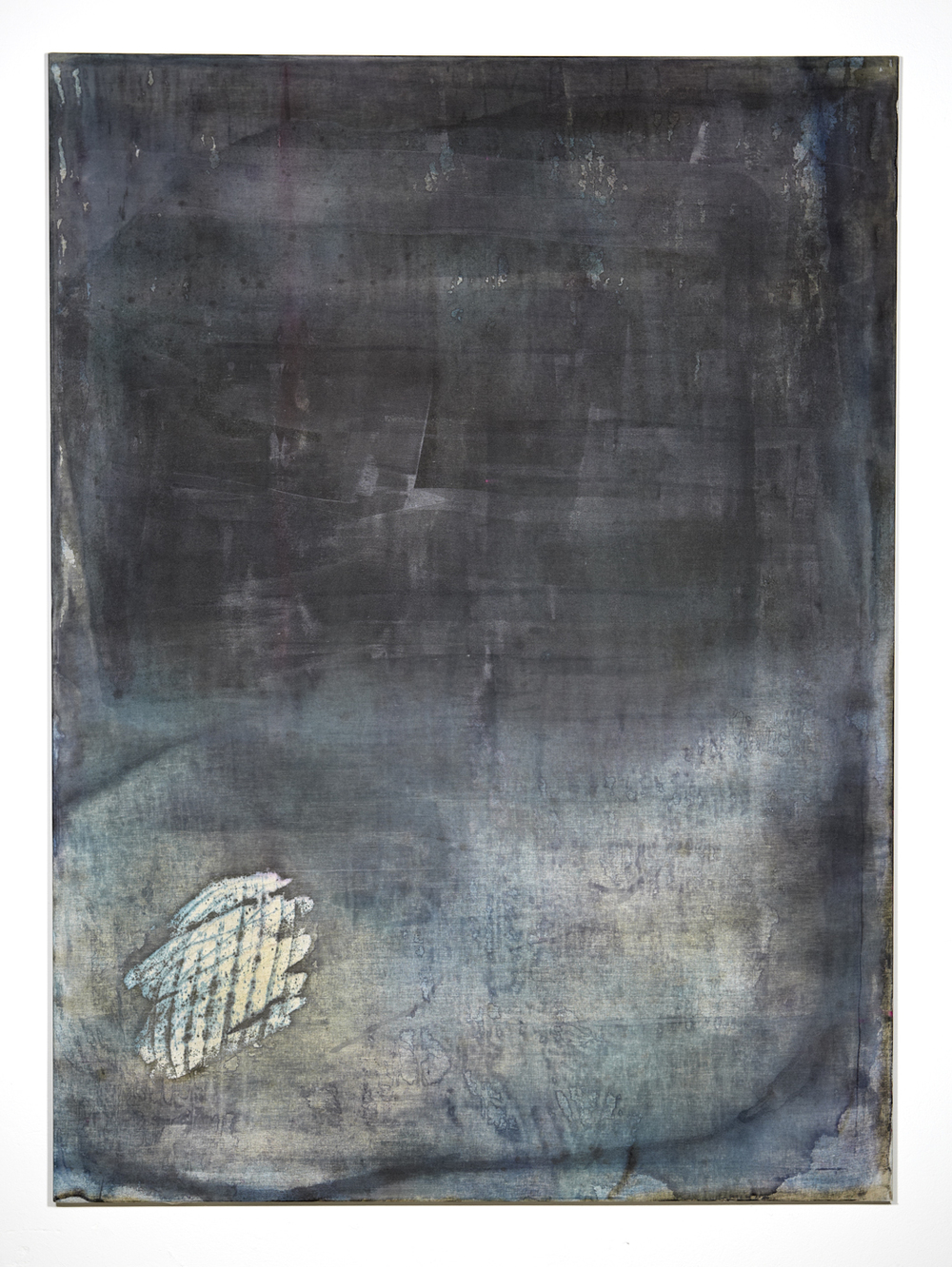 Martin Aagaard Hansen. Untitled, 2014, water colour, ink and varnish on linen, 190 cm x 140 cm