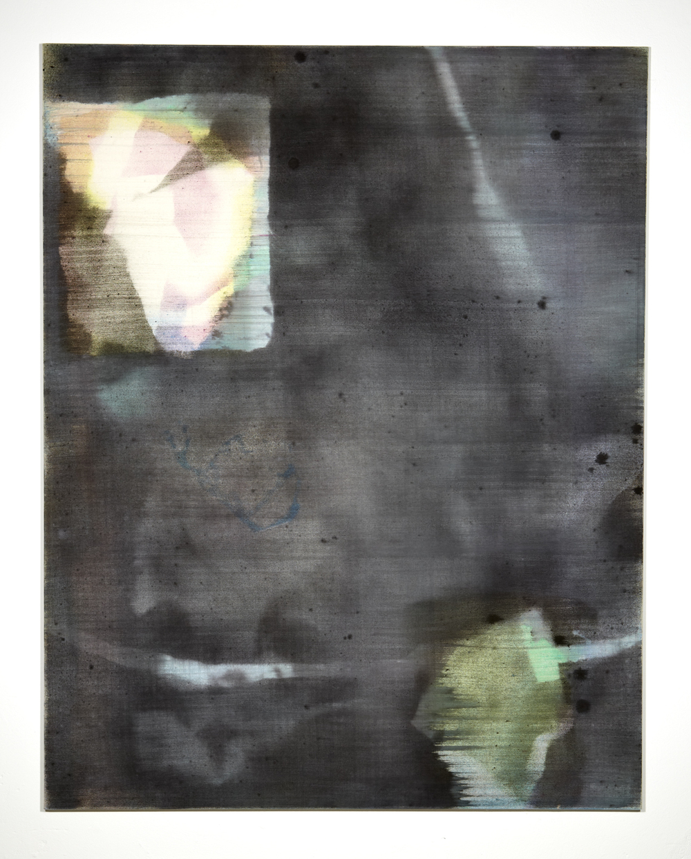 Martin Aagaard Hansen. Untitled, 2014, water colour and ink on linen, 190 cm x 149 cm