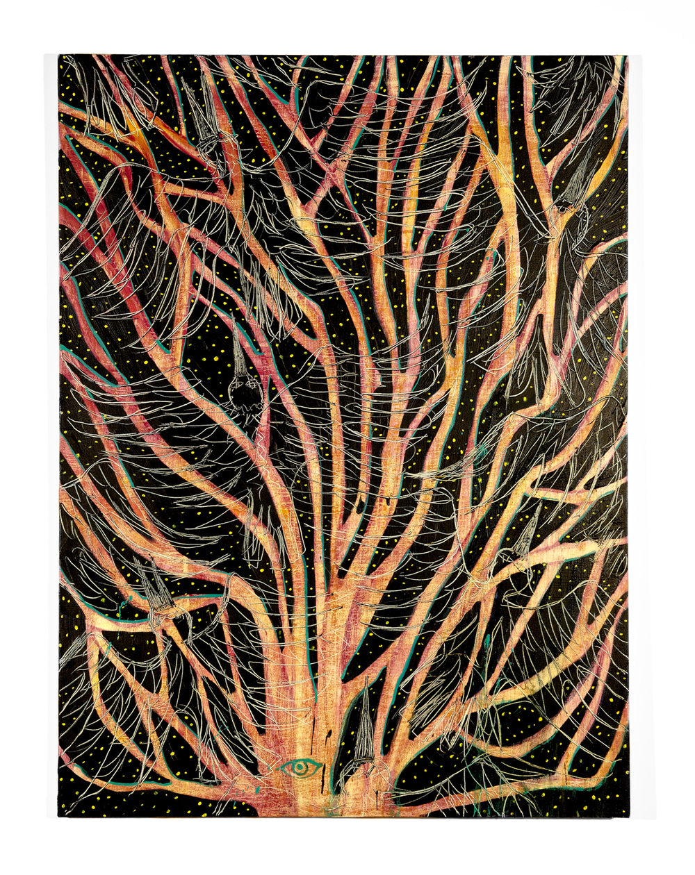 Ryan Schneider. Tree of Phoenix, 2014, oil on canvas, 152 cm x 114 cm